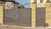 Кованые ворота: разнообразие стилей.